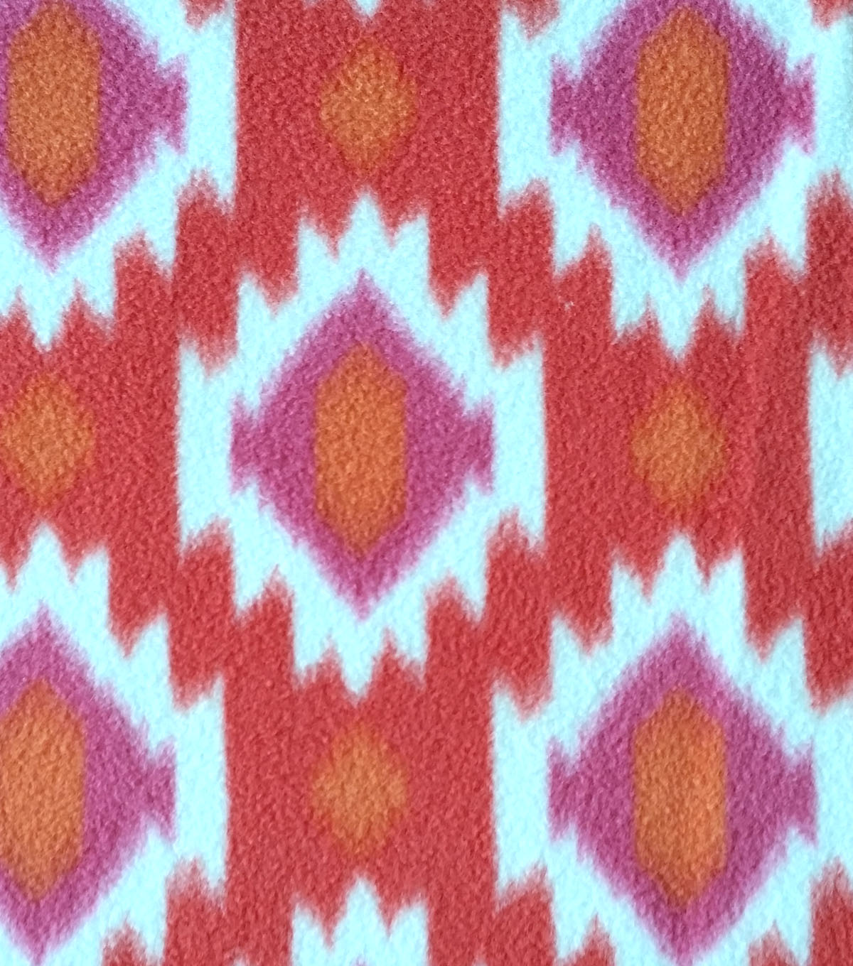 Anti-Pill Fleece Fabric 59\u0022-Ikat Org Pink