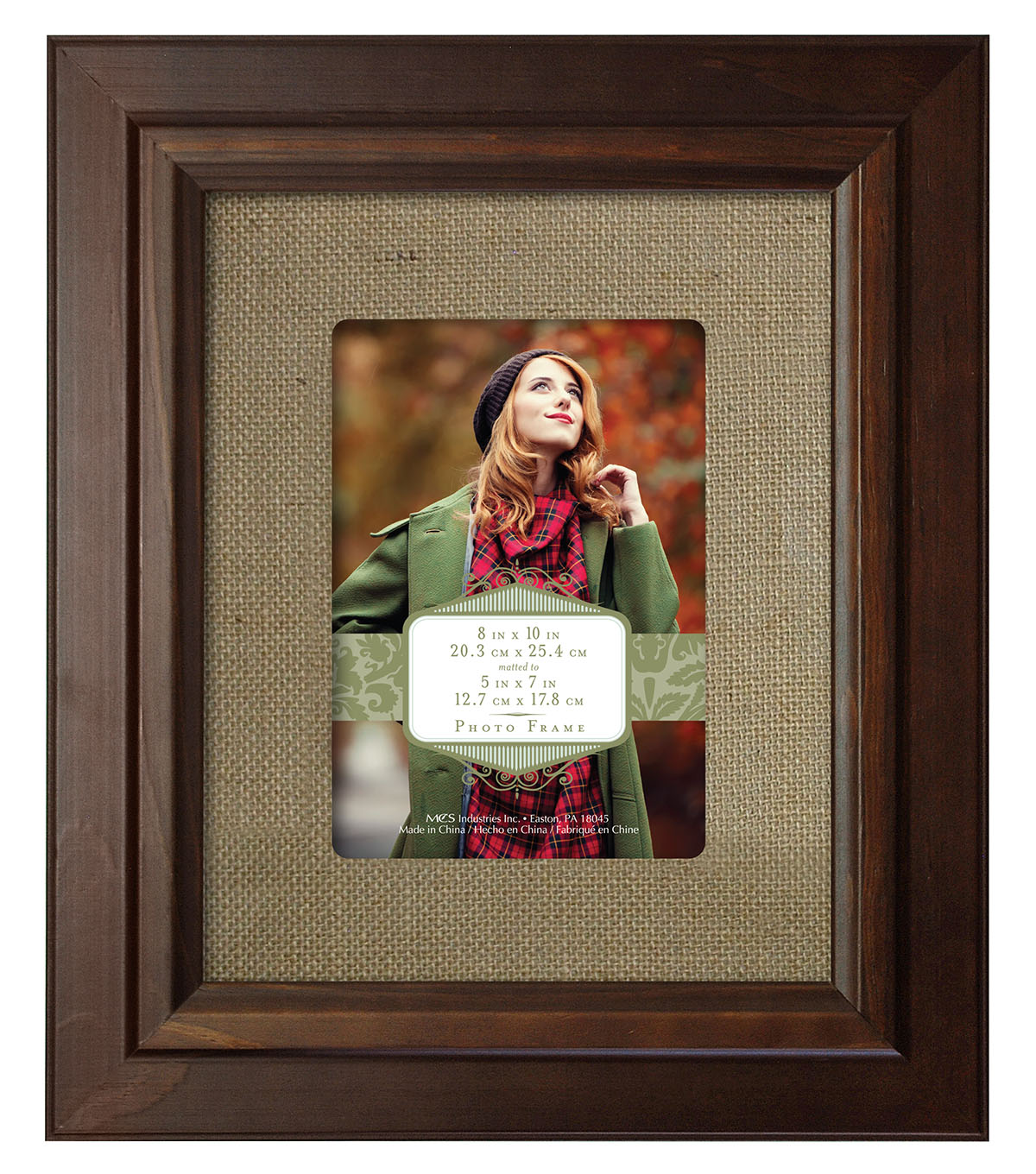 Wall Frame 8X10 To 5X7-Burlap Walnut