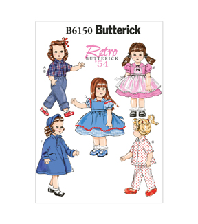 Butterick Crafts Doll Clothes-B6150