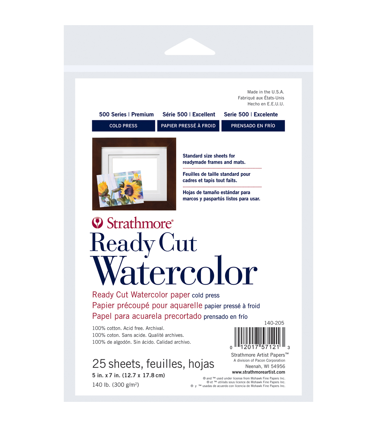 "Strathmore Watercolor Paper 8""X10""-140lb 10 Sheets Cold Pressed"