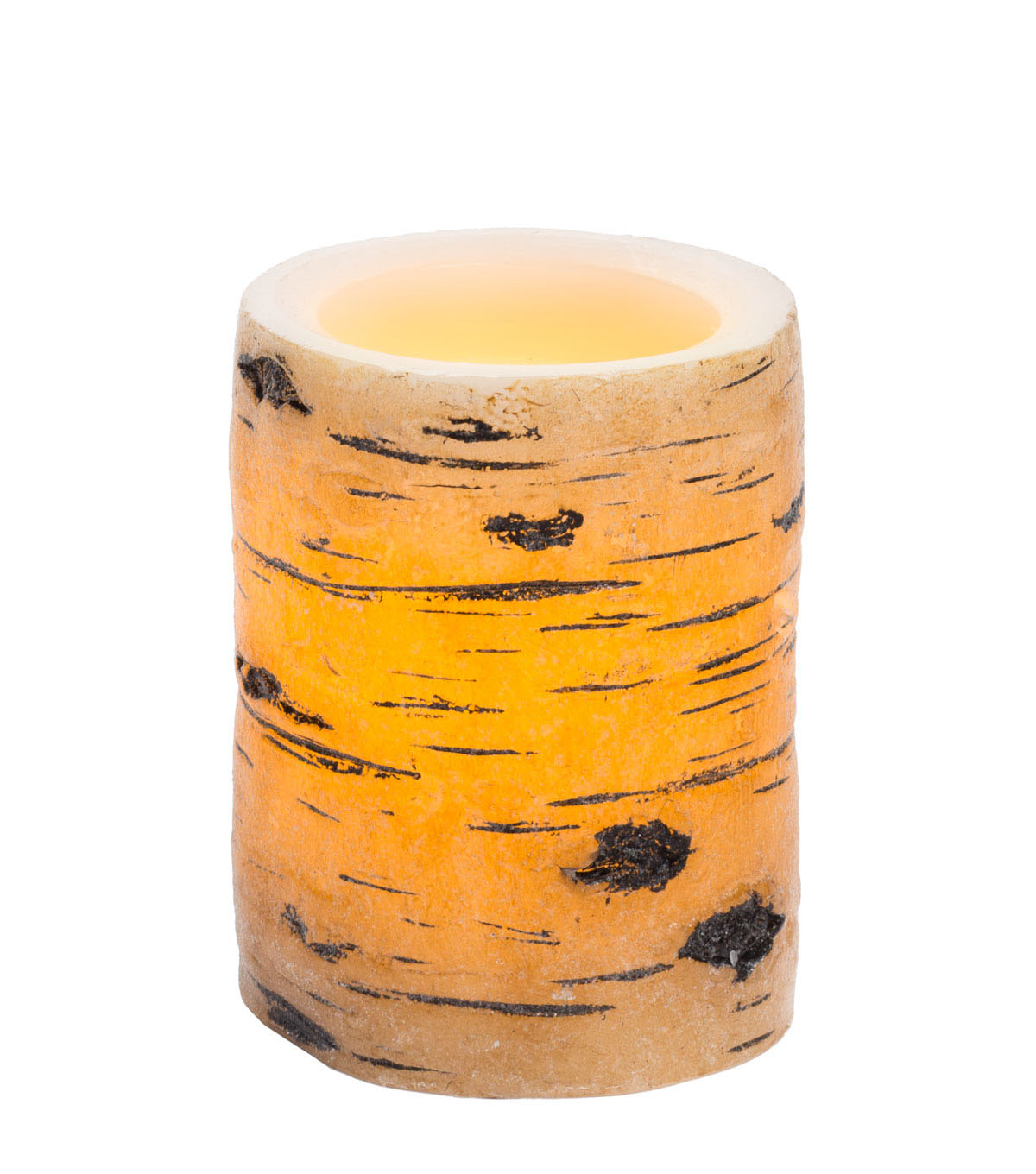 Hudson 43™ Candle & Light Collection 3X4 Tan Birch Bark Pillars With 5 Hour Timer
