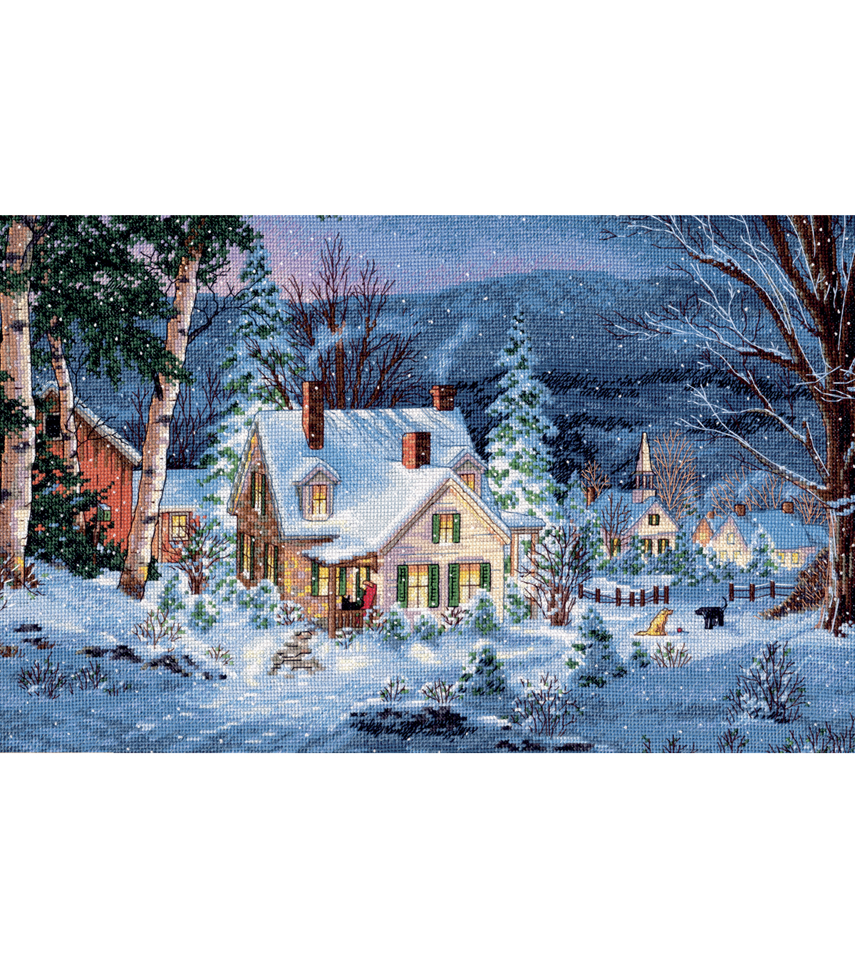 Gold Collection Winter\u0027s Hush Counted Cross Stitch Kit-20\u0022X14\u0022 16 Count