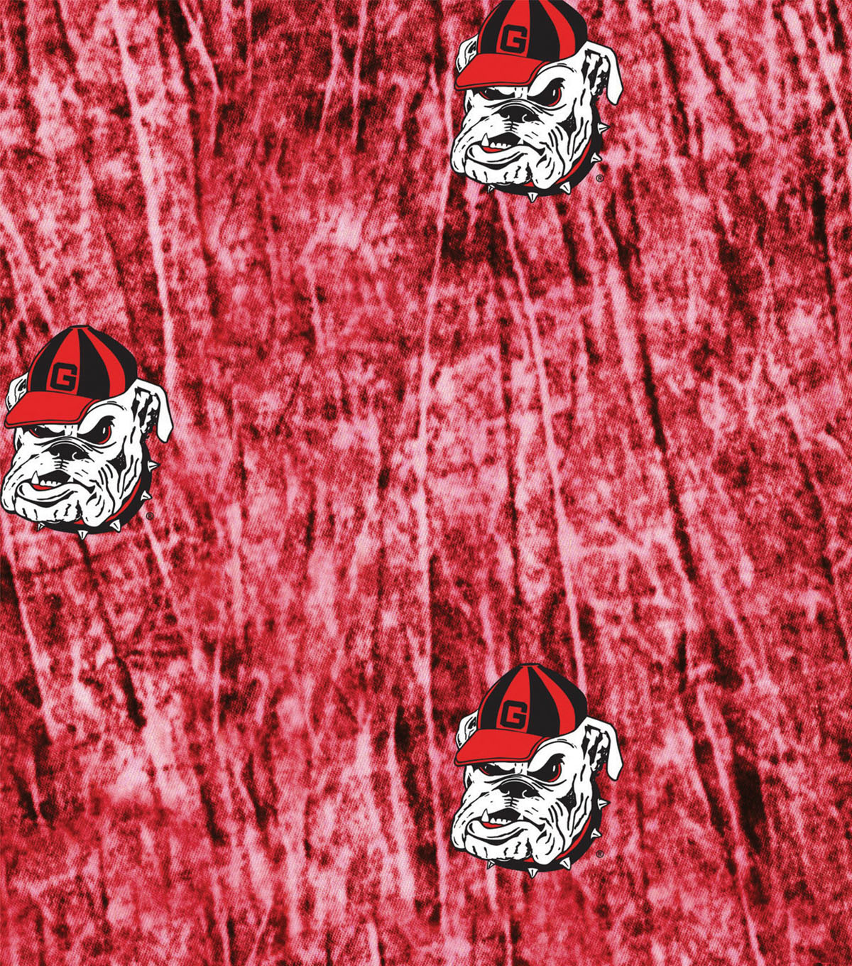 University of Georgia Bulldogs Cotton Fabric 44\u0022-Tie Dye
