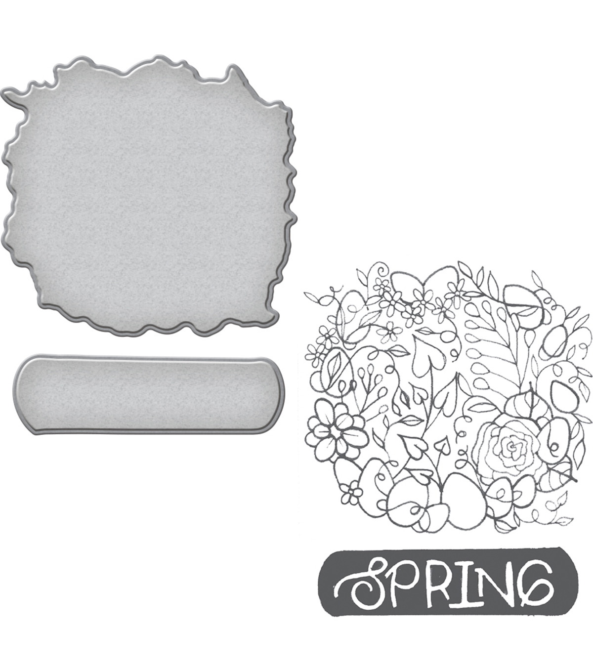 Spellbinders® Spring Love Stephanie Low Stamp & Die Set-Spring