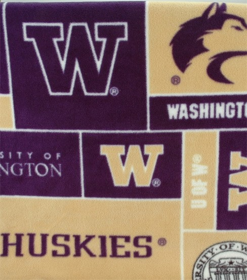 University of Washington Huskies Fleece Fabric 58\u0022-Block