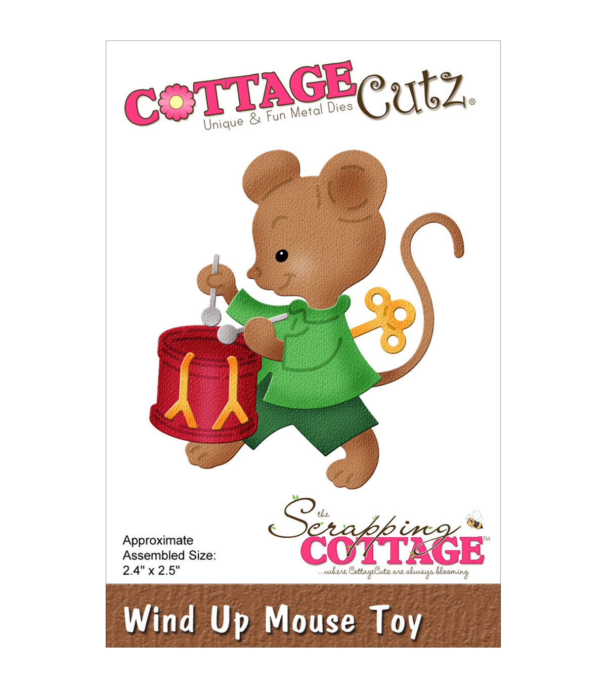 CottageCutz Dies-Wind Up Mouse Toy