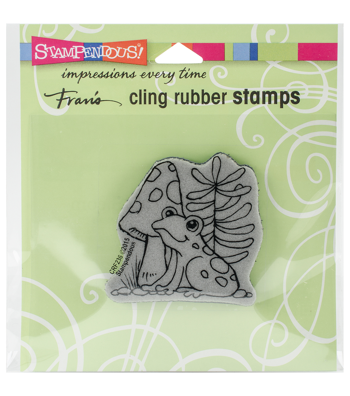 Stampendous Cling Stamp-Garden Frog