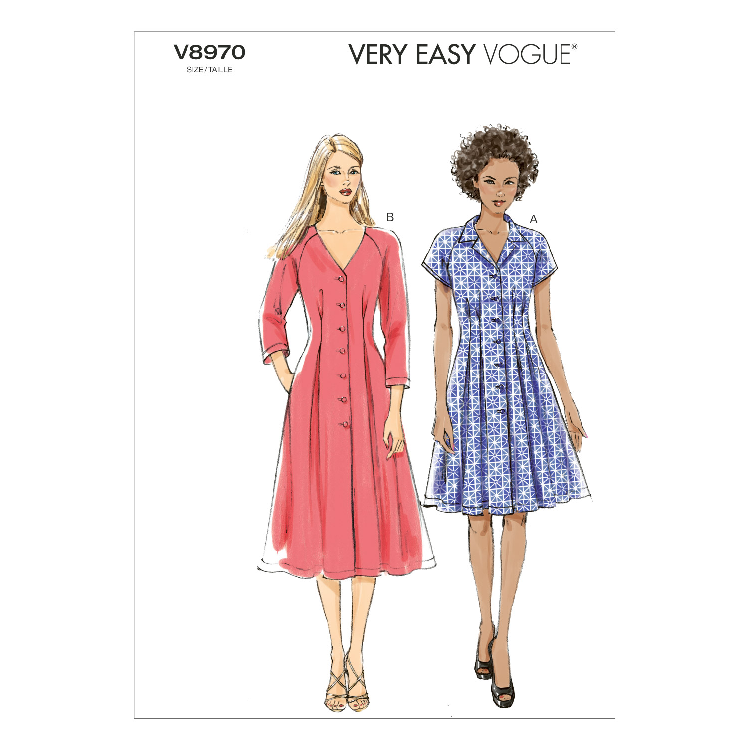 Vogue Patterns Misses Dress-V8970