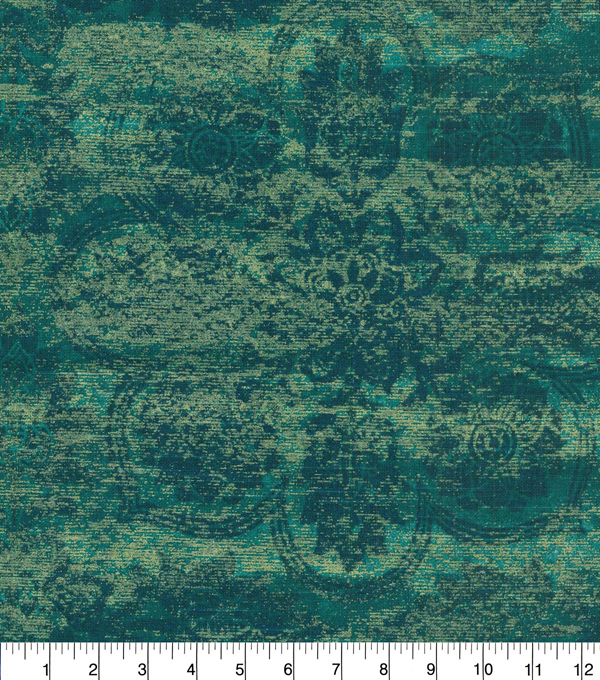 Waverly Upholstery Fabric 54''-Teal Curator's Gem