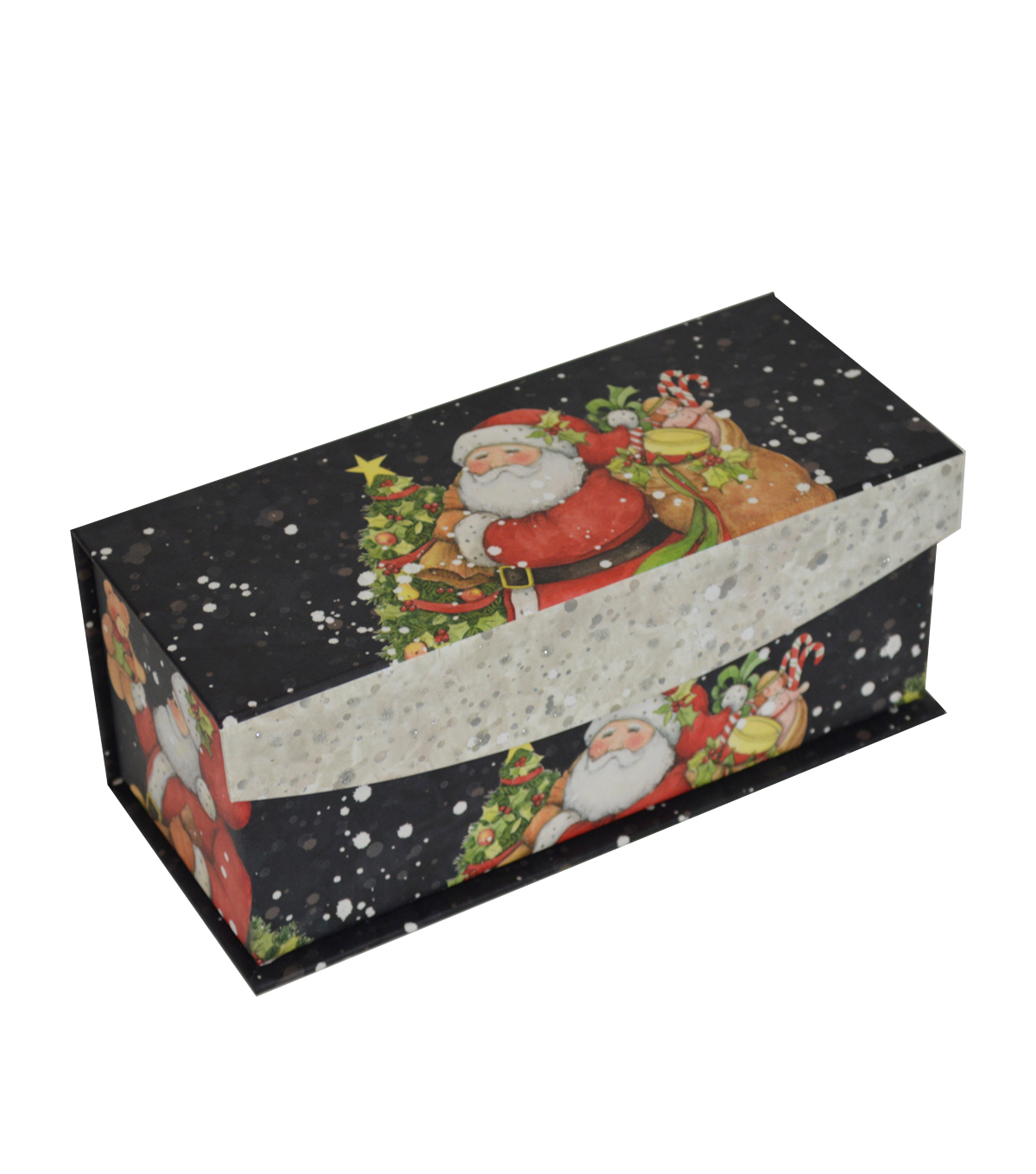 Maker\u0027s Holiday Extra Small Flip Top Box-Santa
