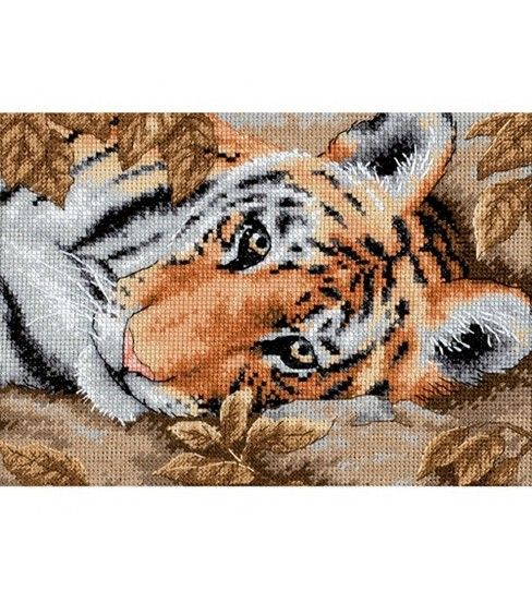 Dimensions Gold Collection Petite Beguiling Tiger Cntd X-Stitch
