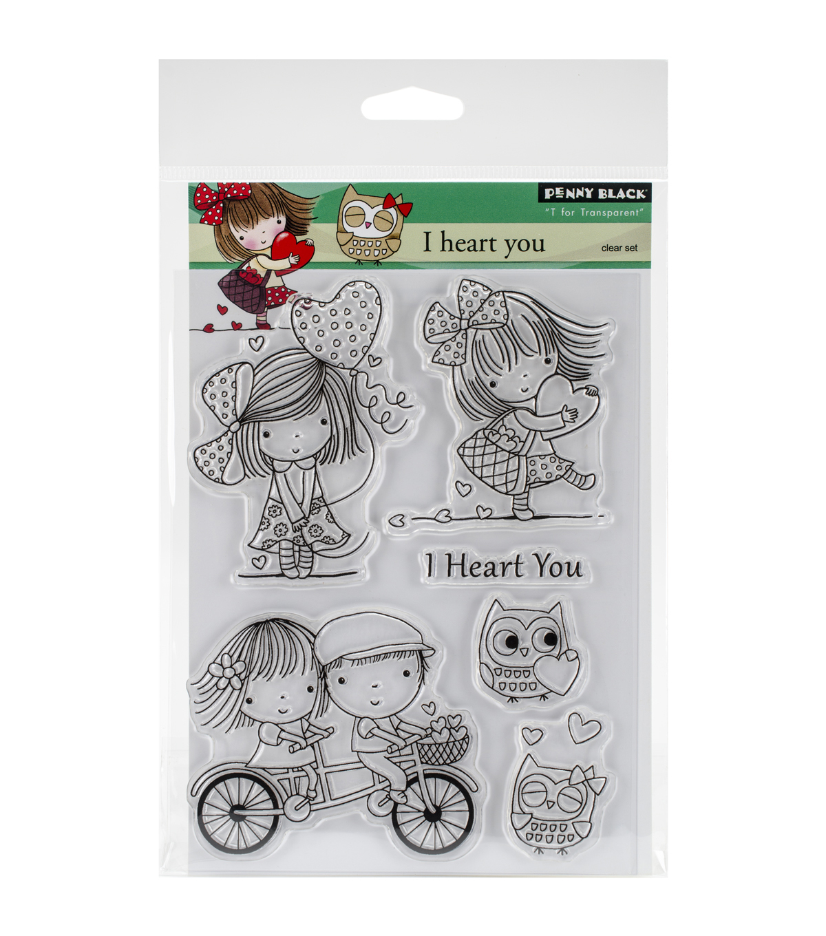 Penny Black I Heart You Clear Stamp Sheet