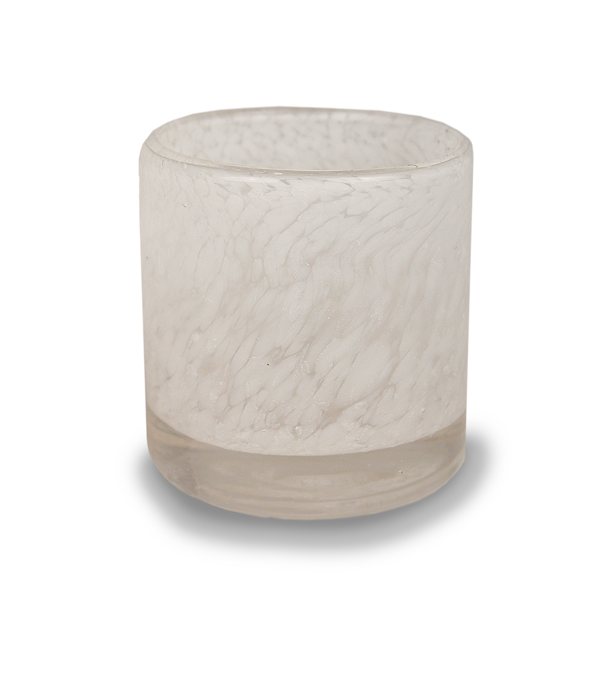 Hudson 43™ Candle & Light Collection White Sea Glass Medium Tealight Holder