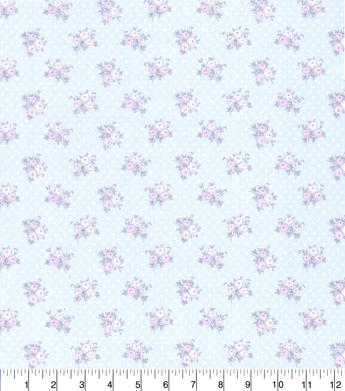Made in America Cotton Fabric-Shabby Chic Floral Dot