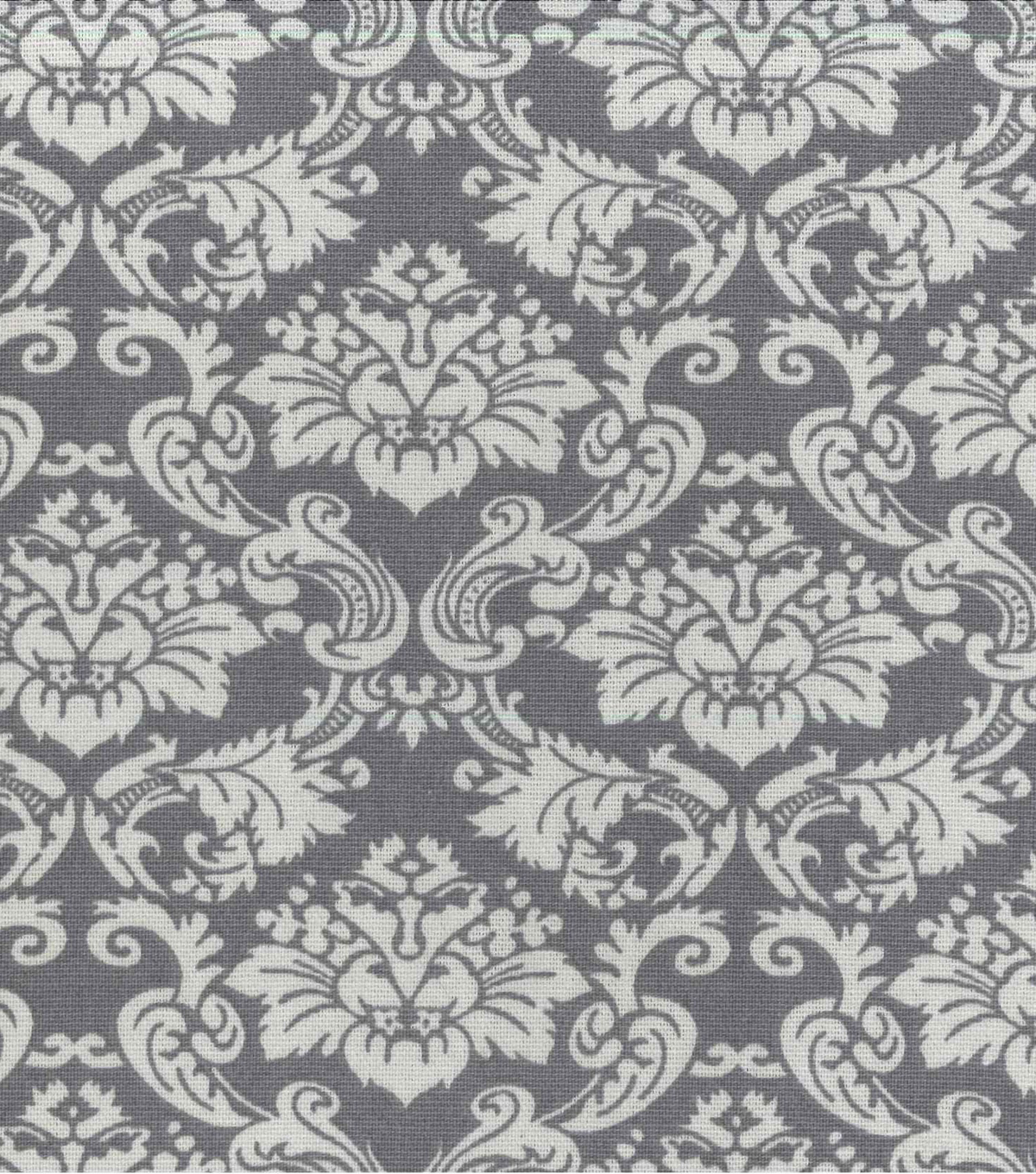 Home Essentials Print Fabric 45\u0022-Grey Damask