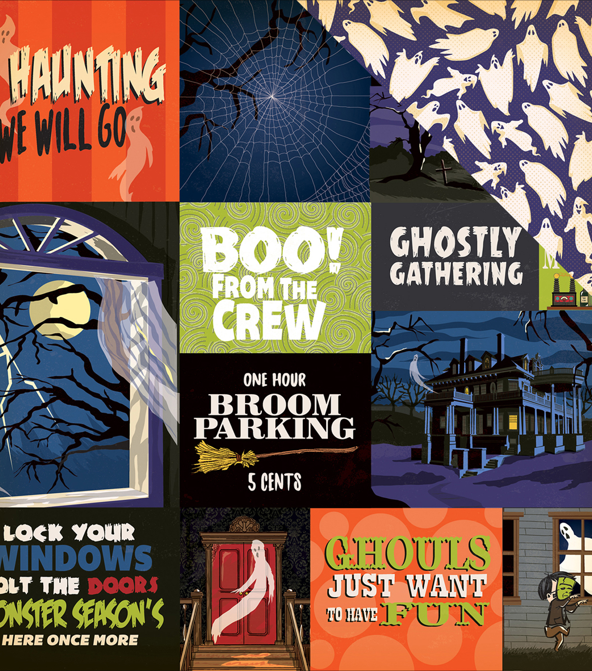 Haunted House Double-Sided Cardstock 12\u0022X12\u0022-Multi Journaling Cards