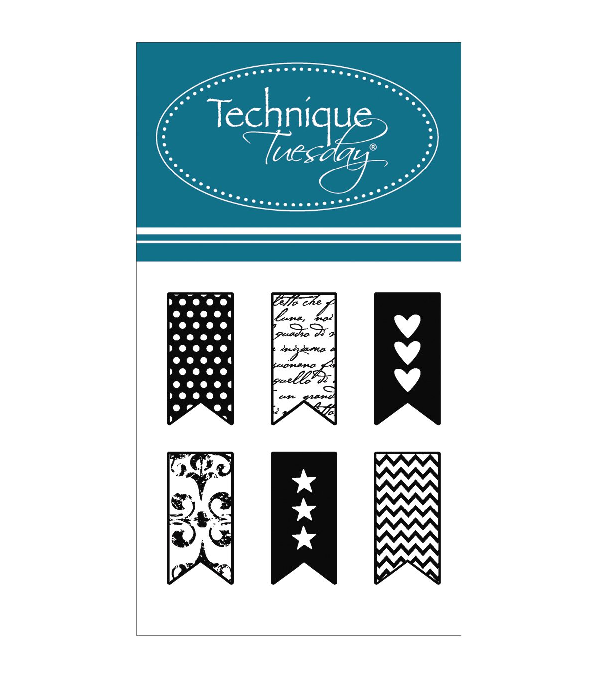 Technique Tuesday Little Banners Clear Stamps