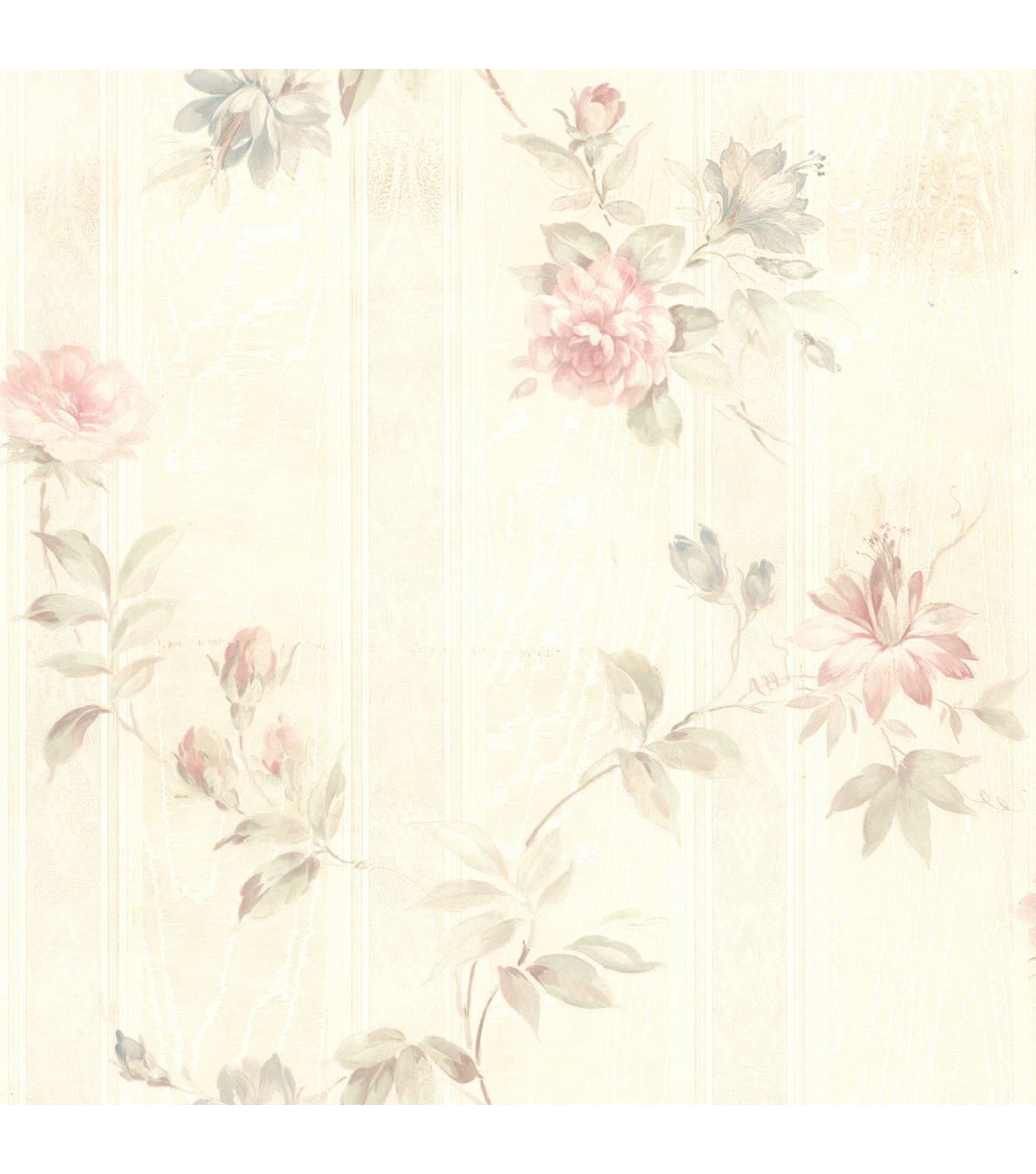 Ivanna Pastel Floral Texture Wallpaper Sample