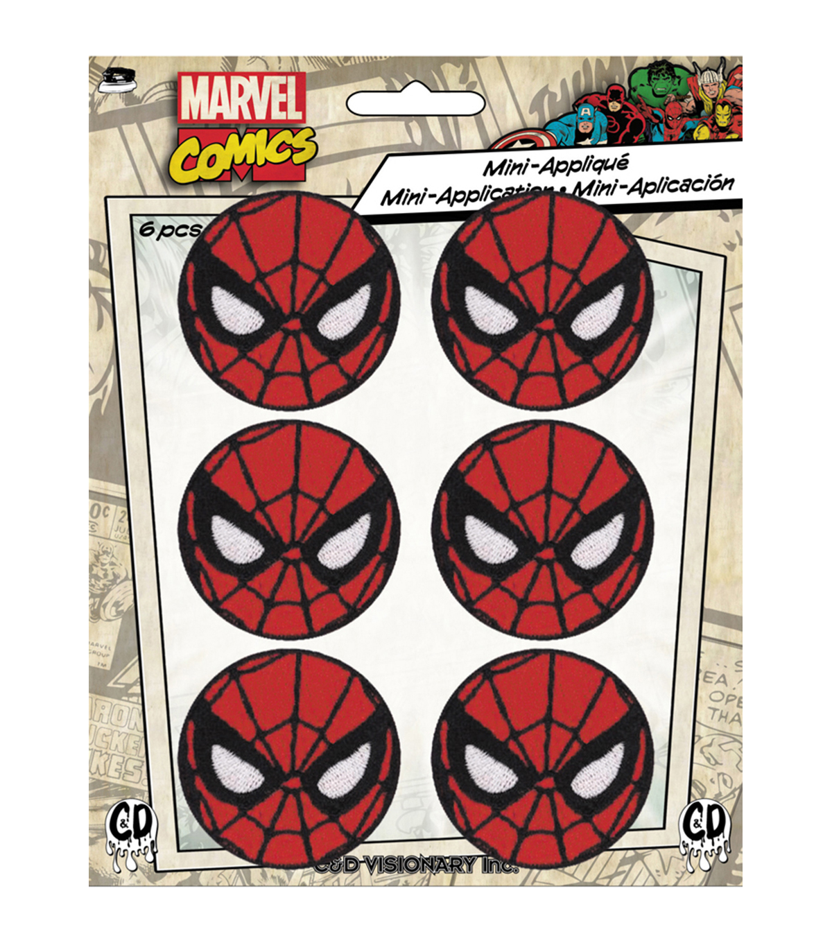 Marvel Comics Patch-Round Spiderman