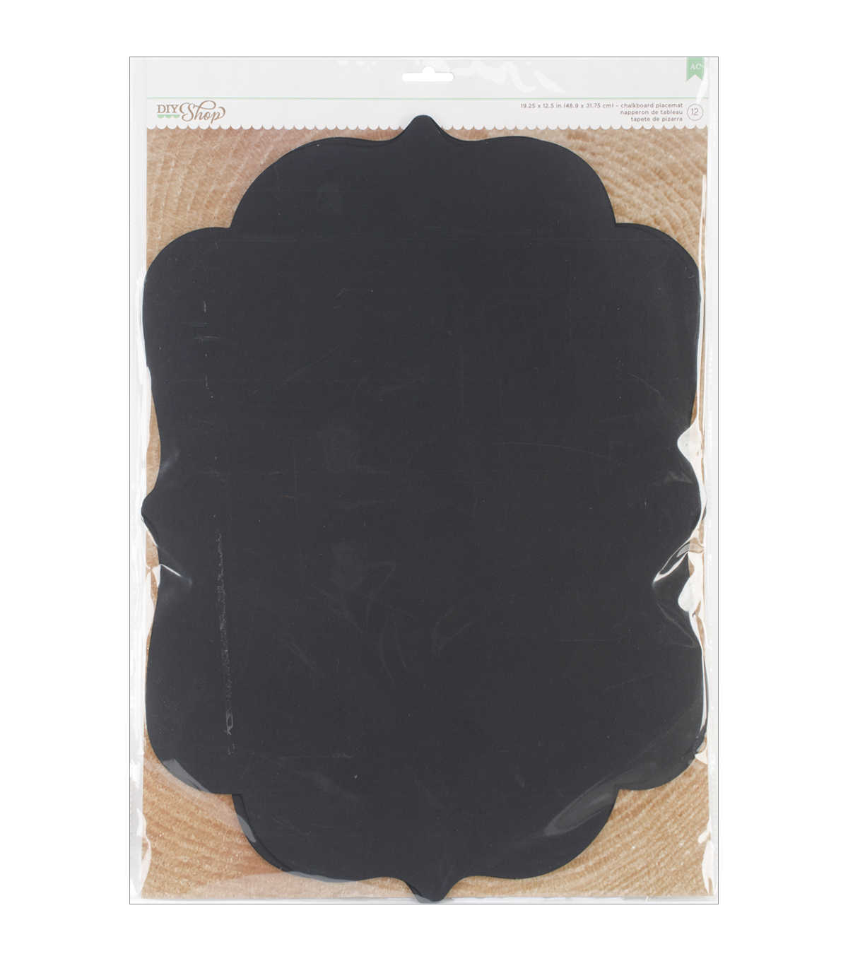 American Crafts DIY Shop 2 Chalkboard Placemat
