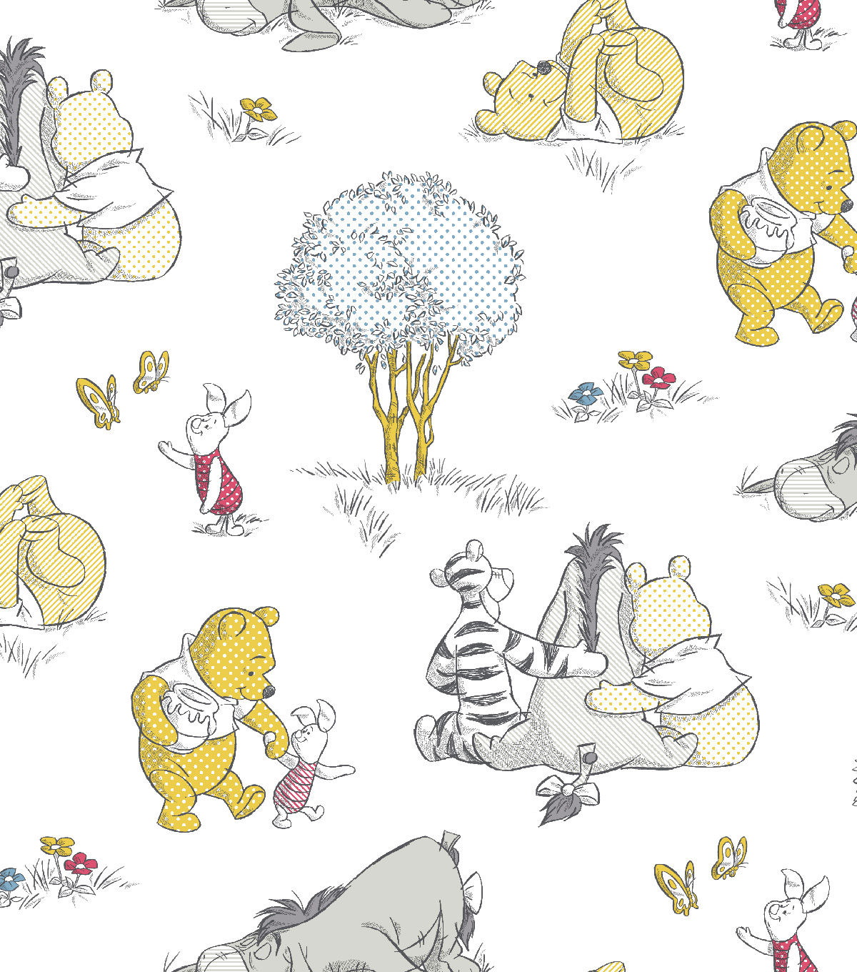 Nursery Flannel Fabric 43\u0022-Pooh