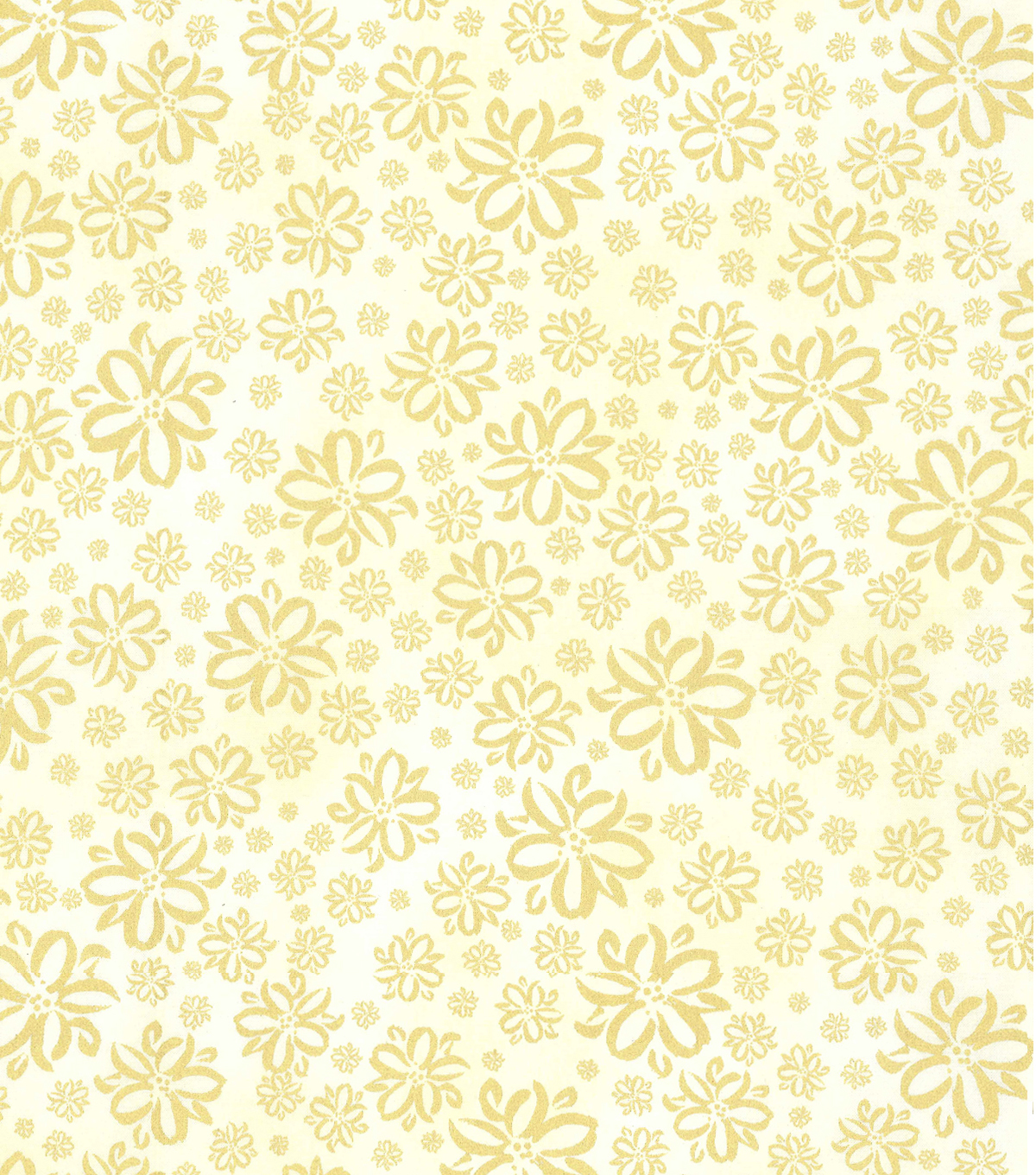 Kathy Davis® Cotton Fabric 44''-Floral Sketch on Cream