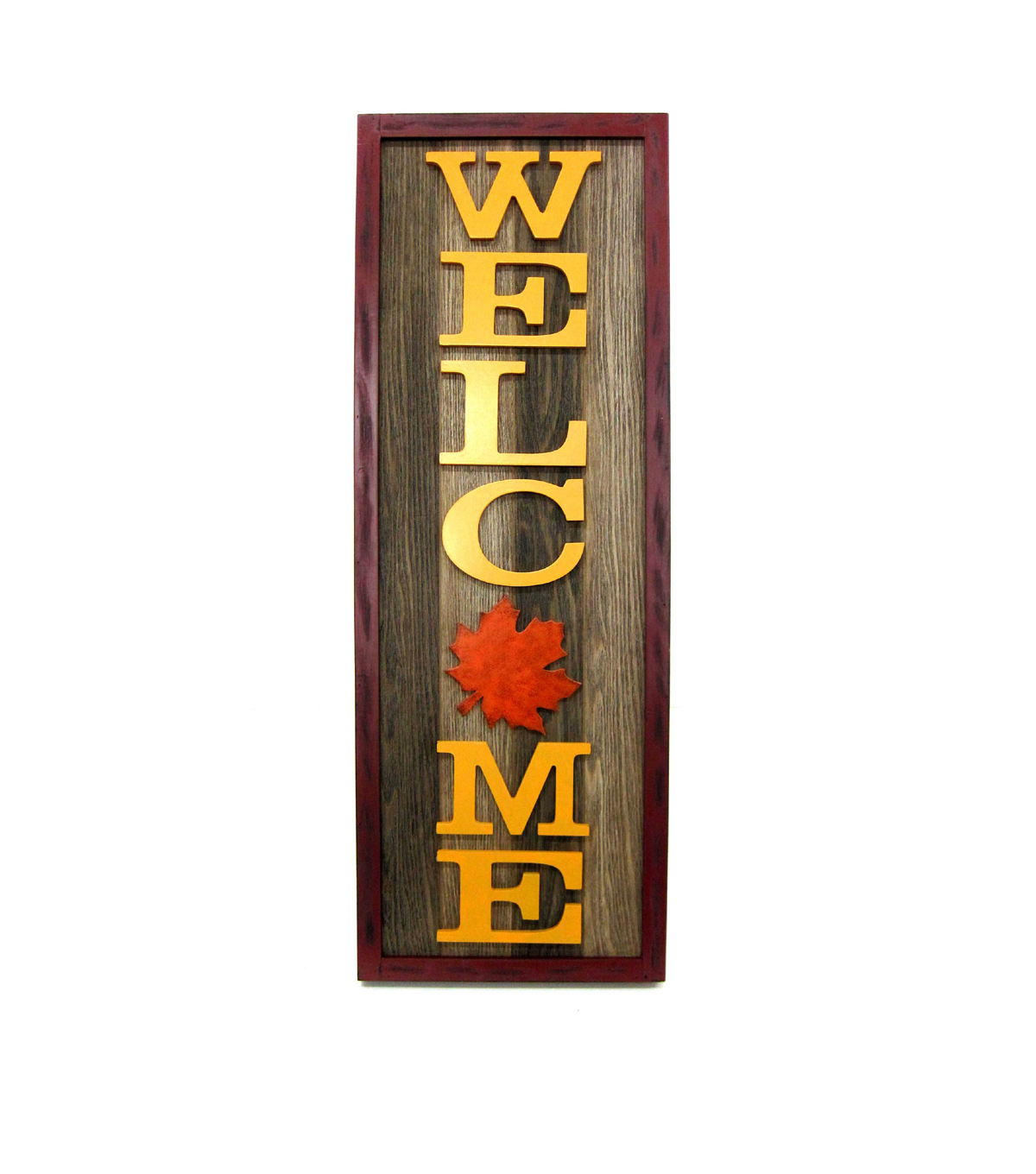 Fall Into Color Wood Porch Sign-Welcome
