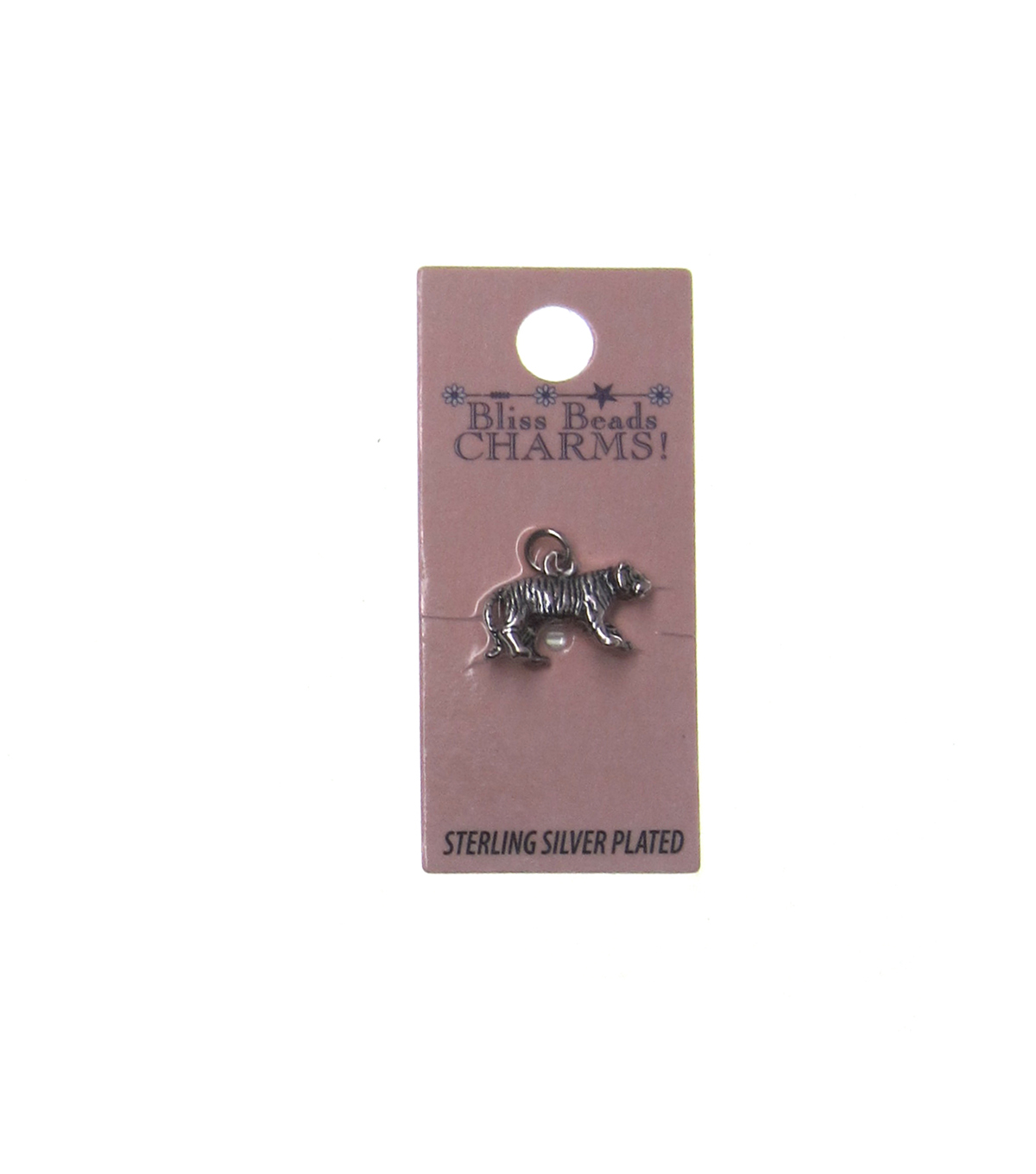 Silver Plated Tiger Charm