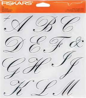 Fiskars® Clear Stamps-Script Monogram A to M