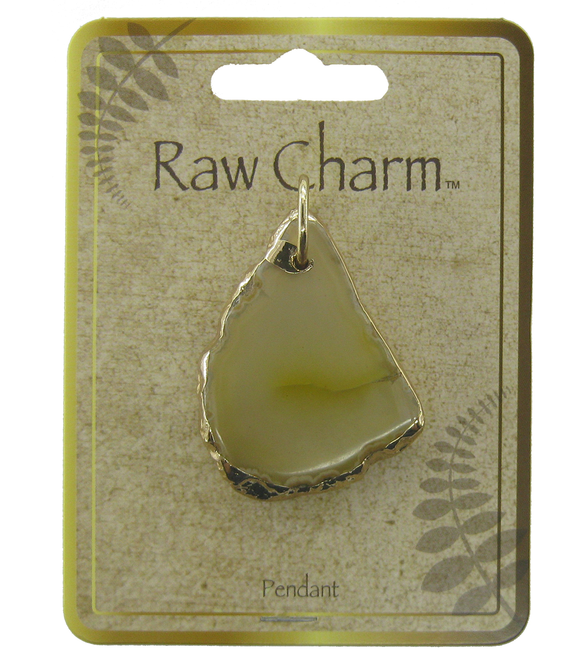 Naturals Raw Charm Gold Pendant