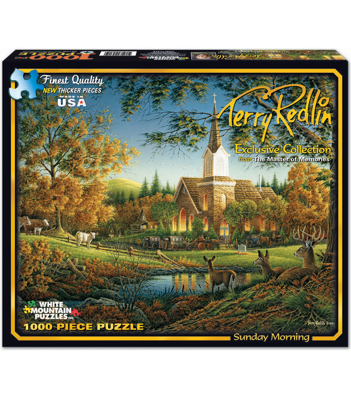 "Jigsaw Puzzle Terry Redlin 1000 Pieces 24""X30""-Sunday Morning"