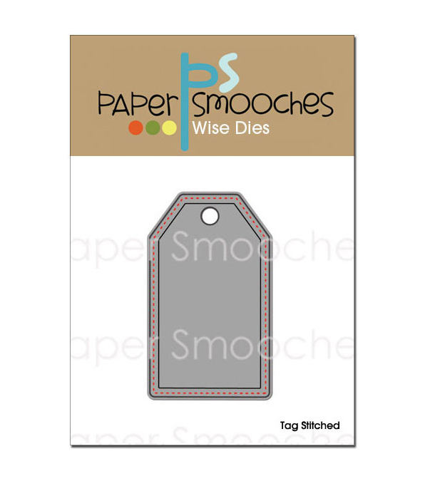 Paper Smooches Die-Stitched Tag