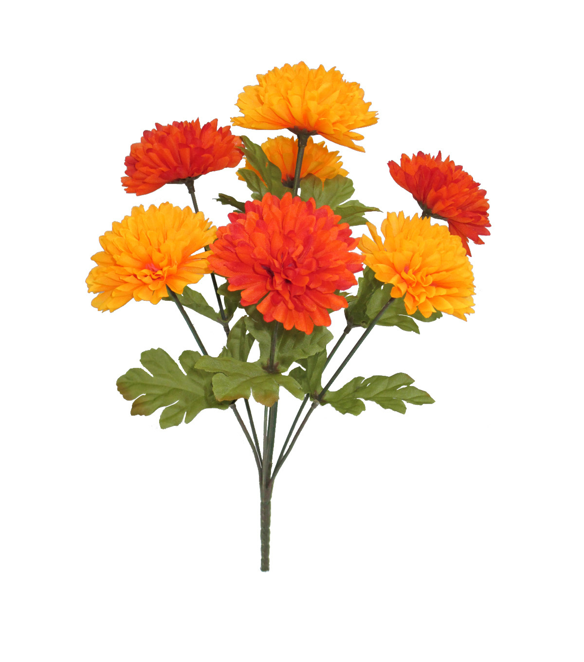 Blooming Autumn 15'' Ball Mum Bush-Orange