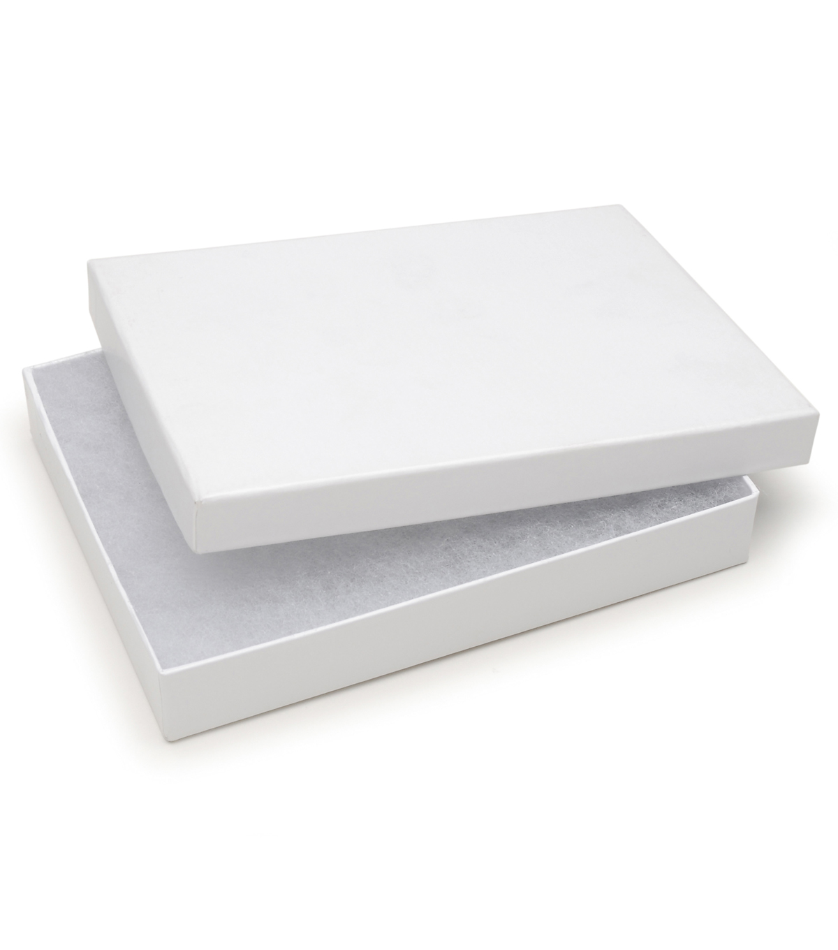 Darice® 5\u0027\u0027x6\u0027\u0027 Jewelry Box with Filler-White