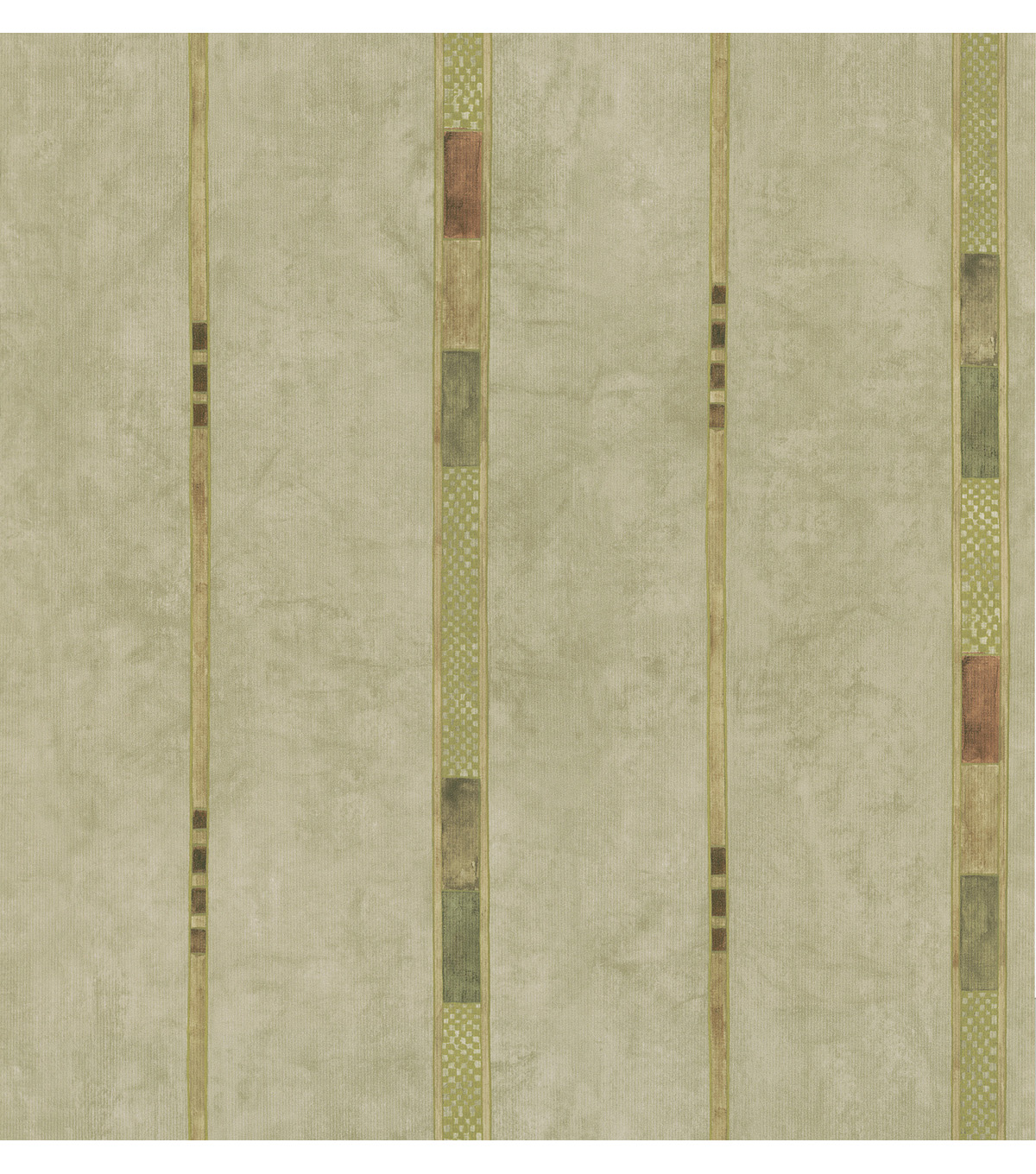 Dion Taupe Block Stripe Wallpaper