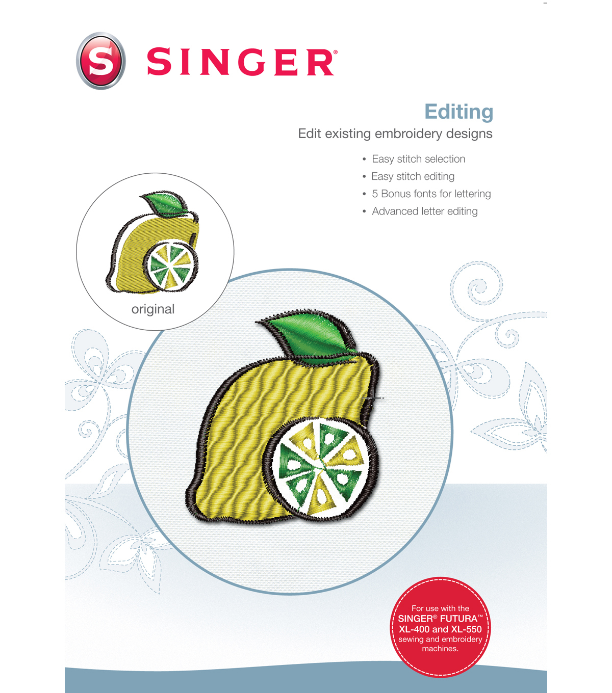 Singer XL 400 Advanced Editing Software