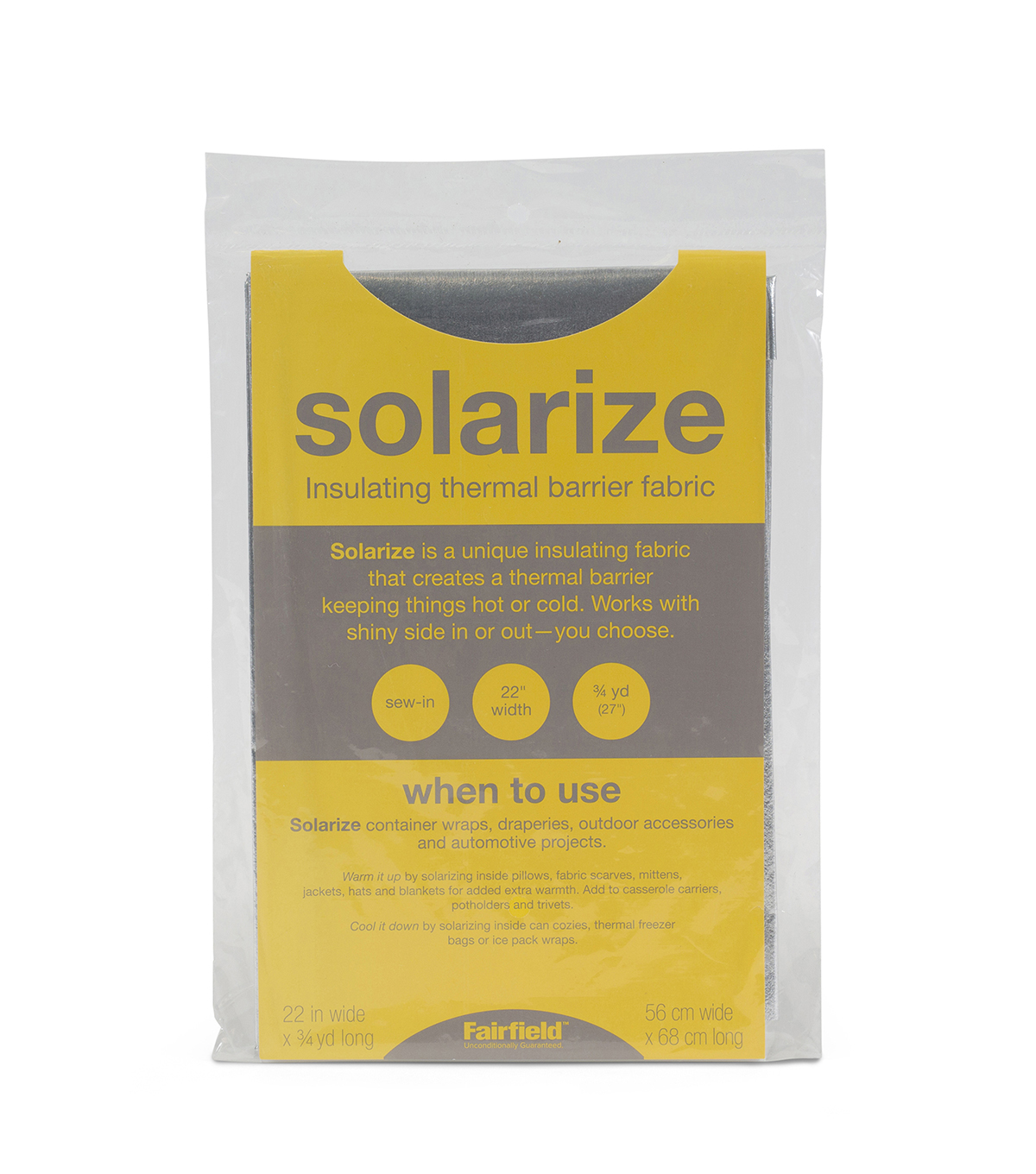 Solarize Liner Fabric Craft Pack 22\u0022 x 3/4 Yd