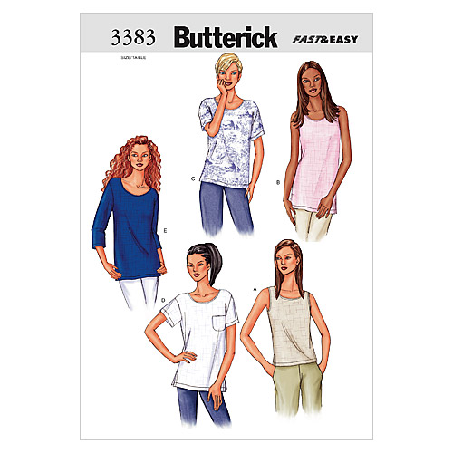 Butterick Misses Top-B3383