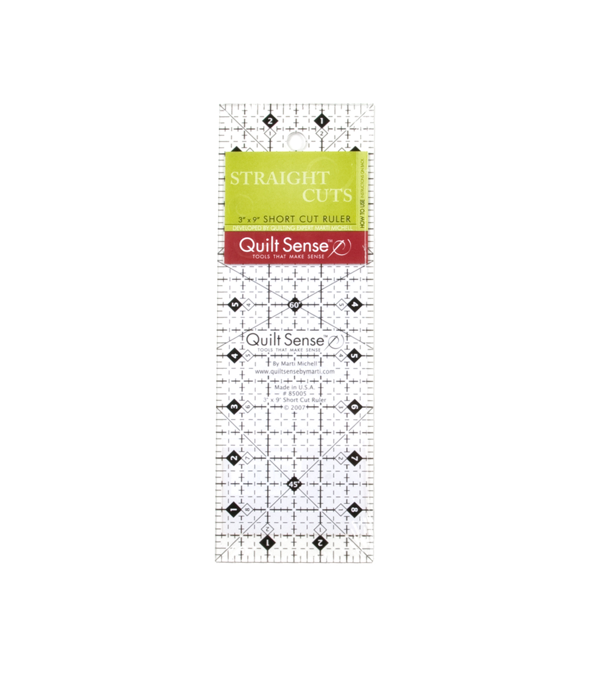Quilt Sense 3\u0022 x 9\u0022 Short Cut Ruler