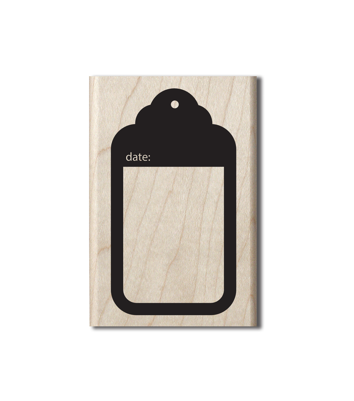 Jillibean Soup Wood Stamp-Date Tag
