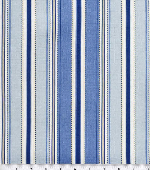 Home Essentials Lightweight Decor Fabric 45\u0022-Stitch Stripe Seaside