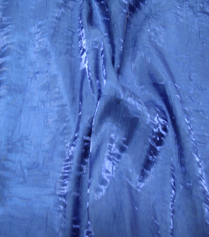 Nicole Miller Crinkle Satin Fabric-Catalina Blue