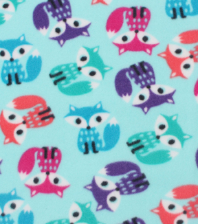 Blizzard Fleece Fabric 59\u0022-Bright Foxes