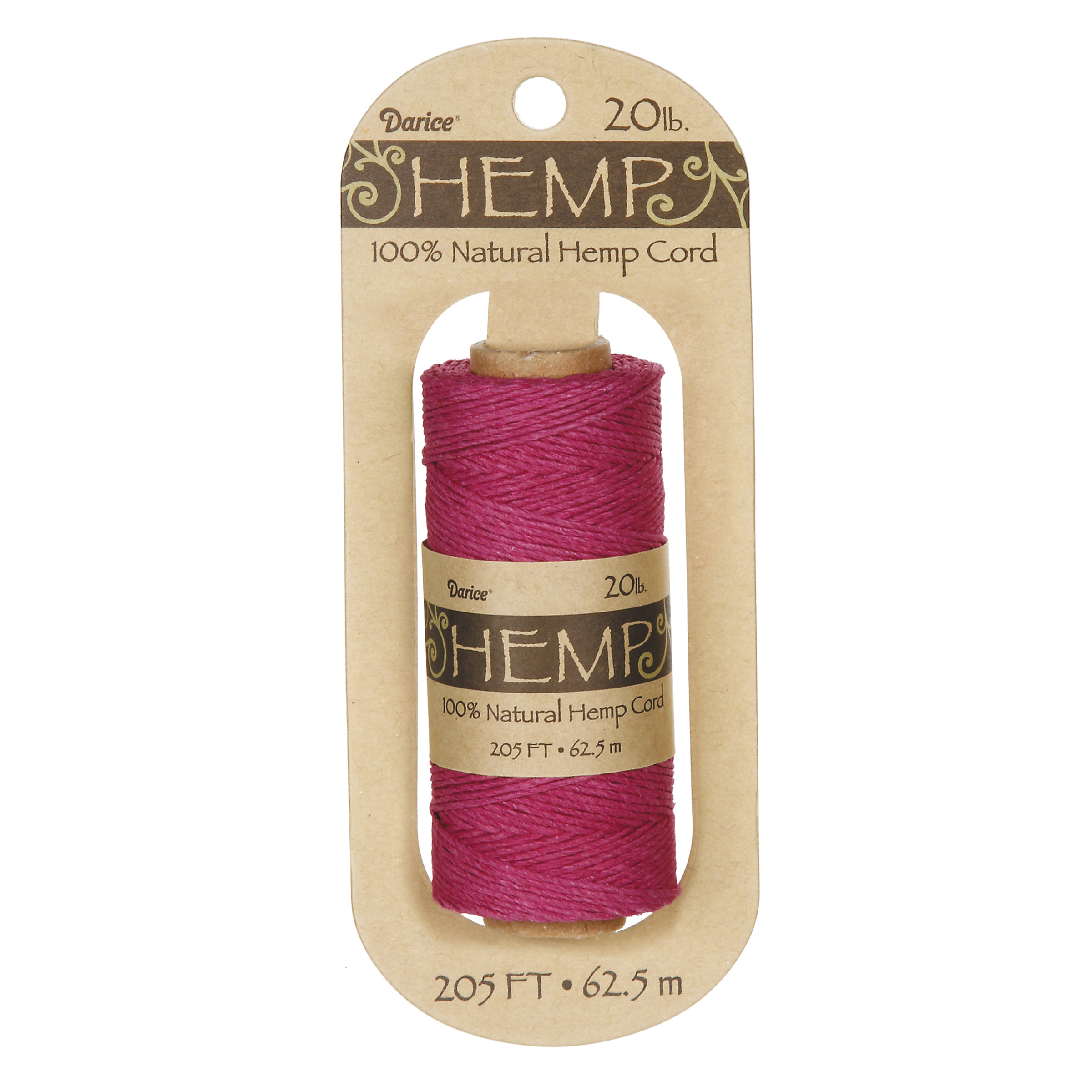 Hemp Spool, Dark Pink, 205ft., 20lb.