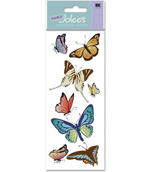 A Touch Of Jolees Dimensional Stickers-Butterflies