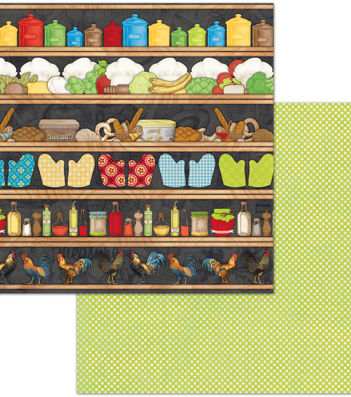 Family Recipes Double-Sided Cardstock 12\u0022X12\u0022-Pantry