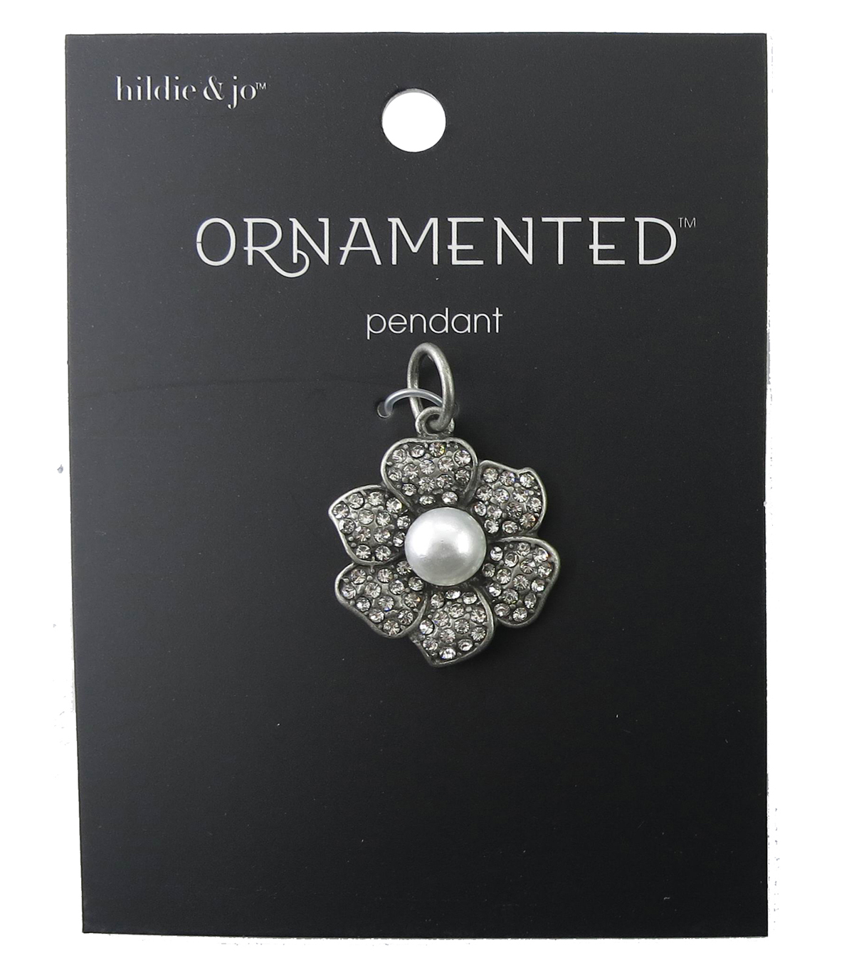 hildie & jo™ Ornamented Flower Petals Antique Silver Pendant