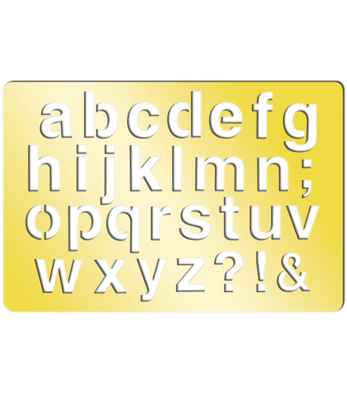 Momenta Art-C Brass Stencil-Emma Lower Case 3.9\u0022x2.6\u0022