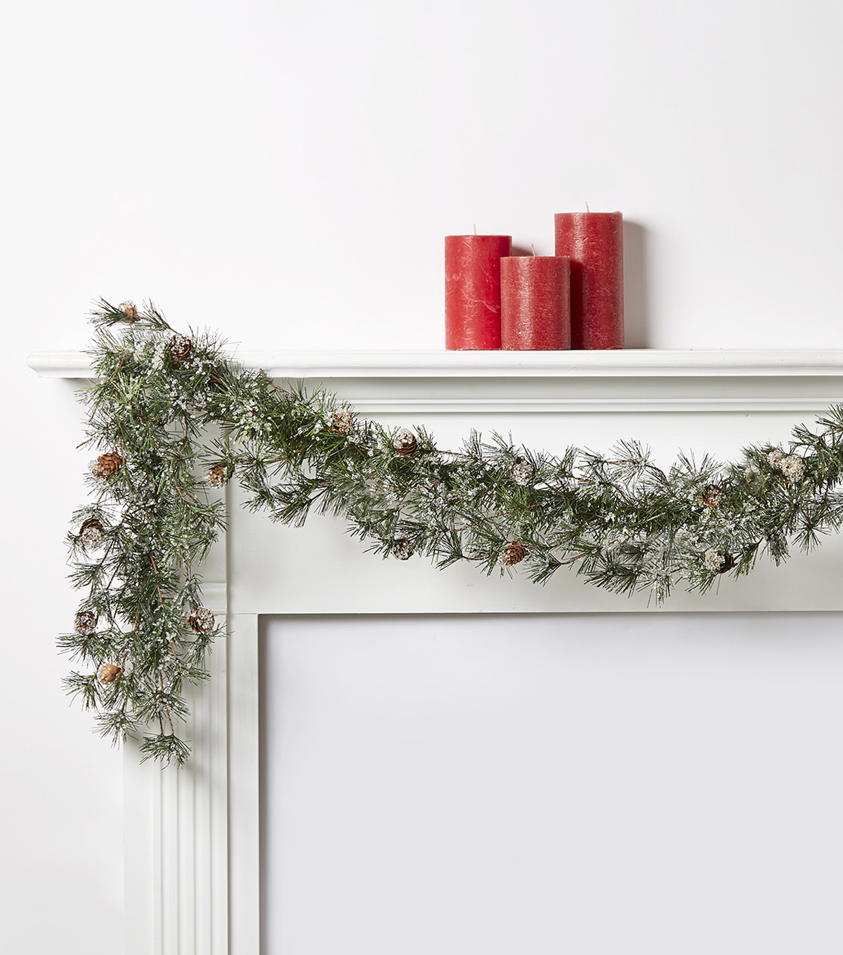 Blooming Holiday 66\u0027\u0027 Iced Pine Garland
