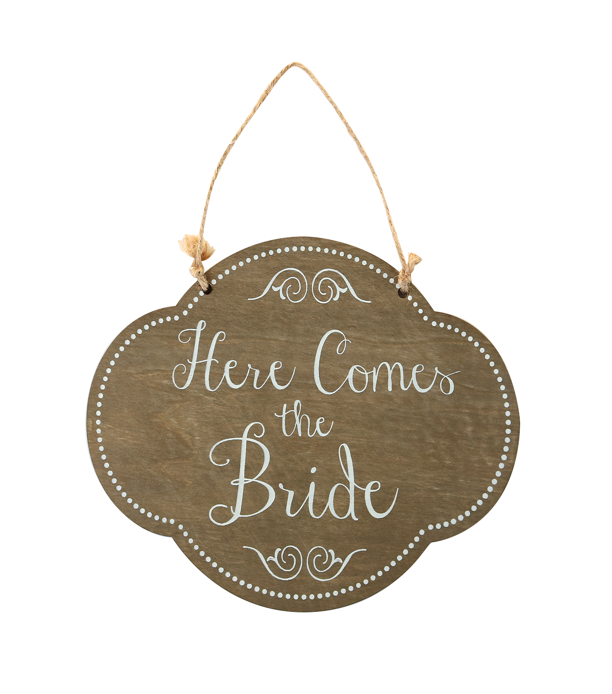 Make It Love It Chalkboard Plaque Here Comes the Bride Large Fancy Oval